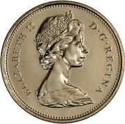 Canada 25 Cents Elizabeth II 2nd portrait 1972 KM# 62b ELIZABETH II D ∙ G ∙ REGINA coin obverse