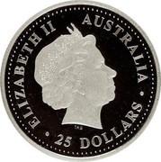 Australia 25 Dollars Koala 2000 P ELIZABETH II AUSTRALIA 25 DOLLARS IRB coin obverse