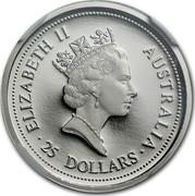 Australia 25 Dollars (Koala) ELIZABETH II AUSTRALIA ∙ 25 DOLLARS ∙ RDM coin obverse
