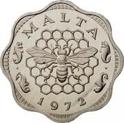 Malta 3 Mils Bee Over Honeycomb 1972 Proof KM# 6 MALTA 1972 coin obverse