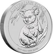 Australia 30 Dollars Koala 2019 P Proof AUSTRALIAN KOALA 2019 1 KILO 9999 SILVER P NM coin reverse
