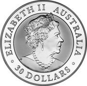 Australia 30 Dollars Kookaburra 2019 P ELIZABETH II AUSTRALIA 30 DOLLARS coin obverse