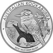 Australia 30 Dollars Kookaburra 2019 P AUSTRALIAN KOOKABURRA 2019 1 KILO 9999 SILVER P NH coin reverse