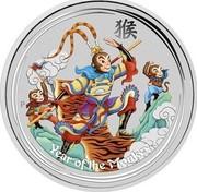 Australia 30 Dollars Monkey King 2016 P YEAR OF THE MONKEY P IJ coin reverse