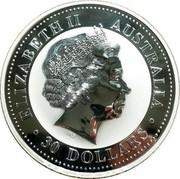 Australia 30 Dollars Year of the Monkey - Colored 2004 MS-BU ELIZABETH II AUSTRALIA 30 DOLLARS IRB coin obverse