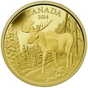 Canada 350 Dollars The Majestic Moose 2014 Proof KM# 1793 CANADA 2014 CD coin reverse