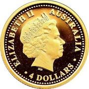 Australia 4 Dollars Eureka Stockade 2004 ELIZABETH II AUSTRALIA 4 DOLLARS IRB coin obverse