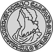 Estonia 4 Marka Carl X 1664 KM# 17.2 CAROLVS ∙ D : G : SVE : GOTH : WAN : Q : REX : ET : PR : HÆ coin obverse