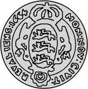 Estonia 4 Marka Carl X 1664 KM# 17.2 MON : NOV : CIVIT : REVALIENS : 1664 4 - M coin reverse