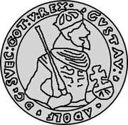 Estonia 4 Marka Gustav II Adolf 1623 KM# 5.2 GVSTAV : ADOLF ∙ DG ∙ SVEC : GOT : V : REX ∙ coin obverse