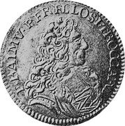 Malta 4 Zecchini Ramon Perellos y Roccaful 1719 KM# 153 E RAIMV PERELLOS.... coin obverse