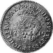 Malta 4 Zecchini Ramon Perellos y Roccaful 1719 KM# 153 OSPIT ET SS EPVL HIFRVS ALFM M M coin reverse