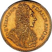 Malta 4 Zecchini Antonio Manoel de Vilhena 1723 KM# 176 DEVILHENA FD ∙ AN ∙ MANOEL coin obverse