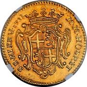 Malta 4 Zecchini Antonio Manoel de Vilhena 1723 KM# 176 M ∙ M ∙ HOSP : ET S ∙ S ∙ HIER V: 1723 coin reverse
