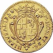 Malta 4 Zecchini Antonio Manoel de Vilhena 1725 KM# 185 M∙M∙HOSP:ET S∙S∙ HIERVSAL:1725 coin reverse