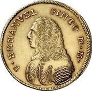 Malta 4 Zecchini Emmanuel Pinto 1742 KM# 237 F∙EMMANVEL PINTO M∙M∙ coin obverse