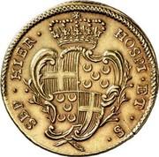 Malta 4 Zecchini Emmanuel Pinto 1742 KM# 237 SEP ∙ HIER ∙ HOSPI ∙ ET ∙ S ∙ coin reverse