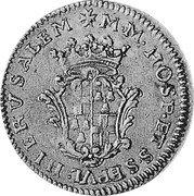 Malta 4 Zecchini (Ramon Perellos y Roccaful) KM# 150 M M HOSP ET S S EPVL HI ER V SA LEM coin reverse
