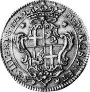 Malta 4 Zecchini (Antonio Manoel de Vilhena) KM# 184 M M HOSP ET S S HIERVS 1724 coin reverse