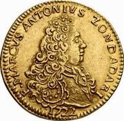 Malta 4 Zecchini Marcantonio Zondadari 1722 Small date KM# 168.2 F∙MARCVS ANTONIVS ZONDADARI 1722 coin obverse