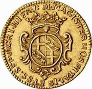 Malta 4 Zecchini Marcantonio Zondadari 1722 Small date KM# 168.2 M∙MAGISTER HOSPITALIS ET∙SS.SEPVLCRI∙HIERV: coin reverse