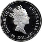 Australia 40 Dollars Emu 1997 P Proof ELIZABETH II AUSTRALIA 40 DOLLARS RDM coin obverse