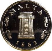 Malta 5 Cents 10th Anniversary of Decimalization 1982 (P) Proof KM# 59 MALTA 1982 coin obverse