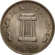 Malta 5 Cents Altar in the Temple of Hagar Qim 1976 (M) KM# 10 MALTA 1976 coin obverse