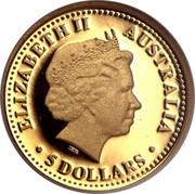 Australia 5 Dollars Discover Australia - Brolga 2008 ELIZABETH II AUSTRALIA 5 DOLLARS coin obverse