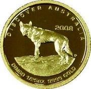 Australia 5 Dollars Discover Australia - Dingo 2008 DISCOVER AUSTRALIA 2008 DINGO 1/25 OZ. 9999 GOLD coin reverse