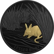 Australia 5 Dollars Echoes of Australian Fauna - Lesser Bilby 2019 LESSER BILBY coin reverse