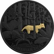 Australia 5 Dollars Echoes of Australian Fauna - Tasmanian Tiger 2019 TASMANIAN TIGER coin reverse