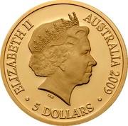Australia 5 Dollars International Polar Year. Mawson Davis & Casey 2009 Proof ELIZABETH II AUSTRALIA 2009 5 DOLLARS coin obverse