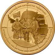 Australia 5 Dollars International Polar Year. Mawson Davis & Casey 2009 Proof AUSTRALIAN ANTARCTIC TERRITORY 90'W 90'E MAWSON DAVIS CASEY INTERNATIONAL POLAR YEAR 2007-2008 STH. MAGNETIC POLE - 1909 coin reverse