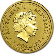 Australia 5 Dollars (Kangaroo) ELIZABETH II AUSTRALIA ∙5 DOLLARS∙ IRB coin obverse