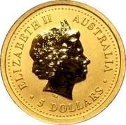 Australia 5 Dollars Kangaroos (Jumping) 2004 Proof ELIZABETH II AUSTRALIA • 5 DOLLARS • IRB coin obverse