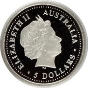 Australia 5 Dollars Koala 2000 P ELIZABETH II AUSTRALIA 5 DOLLARS IRB coin obverse