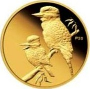 Australia 5 Dollars Kookaburra 20th Anniversary 2009 P20 Proof KM# 1306 P20 coin reverse