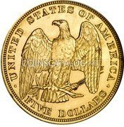 USA 5 Dollars (Liberty Head) KM# Pn1658 UNITED STATES OF AMERICA FIVE DOLLARS coin reverse