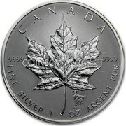 2013 Canada RCM 1 oz .9999 Silver Maple Leaf Coins 25th Anniversary Edition