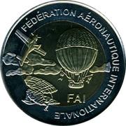Finland 5 Euro 1st World Air Games - Aeromodelling 1997 UNC FÉDÉRATION AÉRONAUTIQUE INTERNATIONALE FAI coin obverse