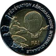 Finland 5 Euro 1st World Air Games - Skysurfing 1997 Proof X# 43 FÉDÉRATION AÉRONAUTIQUE INTERNATIONALE FAI coin obverse