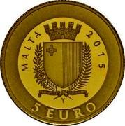 Malta 5 Euro 3 Farthing 2015 MALTA 2015 REPUBBLIKA TA' MALTA 5 EURO coin obverse
