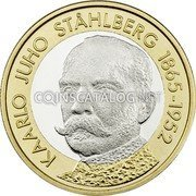 Finland 5 Euro First President Kaarlo Juho Stahlberg 2016 SUOMI FINLAND 2016 5 EURO coin obverse