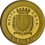 Malta 5 Euro Patakka 2016 MALTA 2016 5 EURO coin obverse