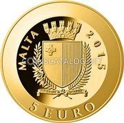 Malta 5 Euro (Pope John Paul II - 10th Anniversary of the Death) MALTA 2015 REPUBBLIKA TA' MALTA 5 EURO coin obverse