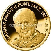 Malta 5 Euro (Pope John Paul II - 10th Anniversary of the Death) IOANNES PAVLVS II PONT. MAX. 1978-2005 NGB coin reverse