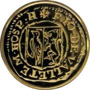 Malta 5 Euro Smallest Gold Coin in the World - The Picciolo 2013 Proof KM# 155 F IO DE VALLETE MHOSP H coin reverse
