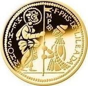 Malta 5 Euro Smallest Gold Coin in the World - The Zecchino 2014 Proof KM# 160 F PHS DE LILEADA MP MEIH SOH M coin reverse