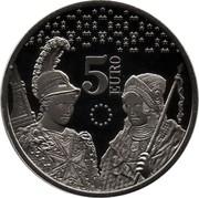 Malta 5 Euro Ten years of the euro in Malta 2018  5 EURO coin reverse